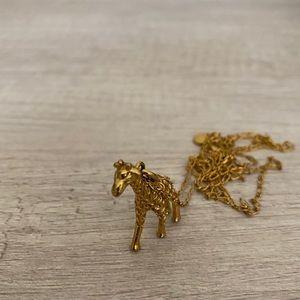J. Crew Giraffe Pendant Necklace